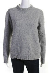 Reiss Womens Crew Neck Long Sleeve Sweater Gray Wool Size Large $31.01