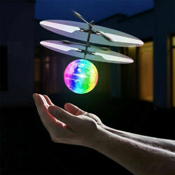 Flash Flying Ball Infrared Induction Colorful LED Disco RC Helicopter Toy USA $9.99