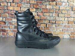 CONVERSE ALL STAR WOMENS TRIBLE BLACK COMBAT BOOTS LACE ZIP 549591C SZ 6.5 $49.99