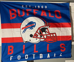 Buffalo Bills Tapestry Wall Hanging Cover Home Decor 50quot; x 60quot; $15.00