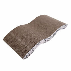 Cat Scratching Corrugated Paper Board Play Rest Sleep Cardboard Bed Mat Pet Toy $15.67