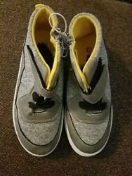 NEW boys High Tops Sneakers Shoes Sz 13 gray yellow $16.99