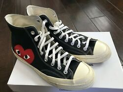 Size 10 Converse Chuck Taylor All Star High x Comme des Garcons Play $105.00