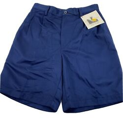 NWT Men#x27;s TOP FLITE By Spalding Size 30 100% Polyester Blue Golf Shorts U17 $17.99