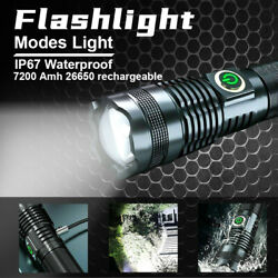 Super Bright 90000LM Flashlight LED P70 Tactical Torch LED Recharge Battery $16.78