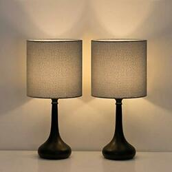 HAITRAL Small Table Lamps Vintage Bedside Nightstand Lamps Set of 2 for Bed... $24.75