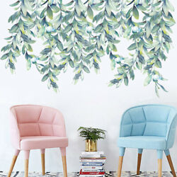 Large Leaves Wall Stickers Wall Decals Wall Graphics Vines Leafs Self Adhesive $9.77