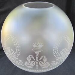 9quot; Bows amp; Wreaths BALL SHADE 4quot; fitter glass for old oilbanquet GWTW lamp $59.95