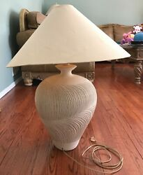 Vintage 1986 Casual Lamps Pottery Table Lamp Large $149.99