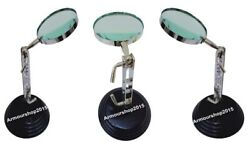 TABLE TOP MAGNIFYING GLASS DESK Chrome MAGNIFIER Nautical $66.00