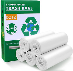 5 Rolls 4 6 Gallon Biodegradable Garbage Bags 100 Count Compostable Trash Bags $18.36