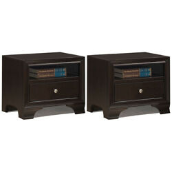 Gymax 2Pcs Vintage Nightstand Solid Wood Sofa Side End Table W Usb Port amp; $208.54
