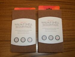 2 Packs Full Circle Walnut Shell Scour Pads Pack of 3 in each $10.00