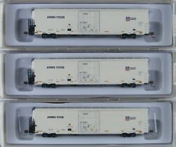Atlas N Scale 64#x27; Trinity Reefer Union Pacific ARMN Lot Of 3 Set1 New $106.85