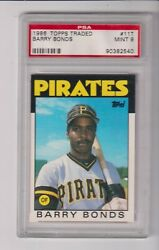 1986 TOPPS TRADED #11 BARRY BONDS RC WITH PSA 9 GRADE $39.95