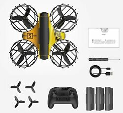 2021 Mini RC Drone Headless RC Quadcopter One Key Land Auto Hovering 3 Batteries $65.99