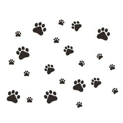 Home Bedroom Wall Stickers Mobile Dog Paw Waterproof X5A8 $8.45