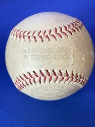 Old Spalding official national league baseball Charles Feeney $25.00