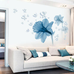 Lotus Flower Butterfly Removable Wall Stickers DIY Art Decal Home Decor Mural $11.99