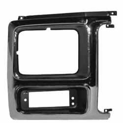 Headlight Door Chrome with Black Insert for 80 86 Ford Bronco F150 Pickup RIGHT $34.00