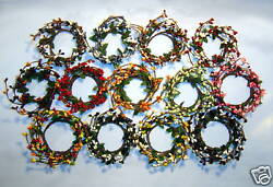 2in PIP Berry Candle Ring Wreath Color Variations Spring Fall Christmas $2.95