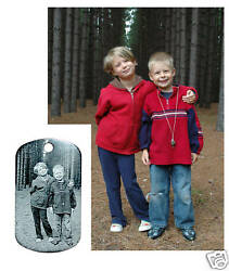 Personalized Laser Engraved Dog Tag Custom Photo Etch $11.75