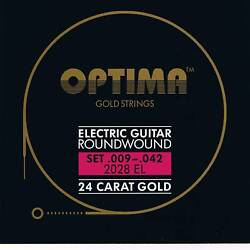 OptimaMaxima  24K Gold Electric Strings 9-42