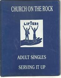 *ST PETERS MO 1988 *SERVING IT UP COOK BOOK *CHURCH ON THE ROCK *LOCAL ADS *RARE $9.95