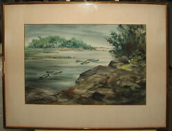 Betty Lou Schlemm Rockport or Maine WC Listed American Watercolor Soc. Member