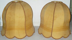 TWO ANTIQUE LAMP SHADES SILK ? VICTORIAN ? $399.99