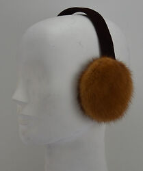 Real Whiskey Mink Fur Earmuffs New Made in the USA $49.95