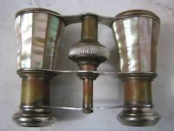 ANTIQUE FRENCH CHEVALIER PARIS MOTHER OF PEARL OPERA BINOCULARS