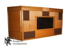 Massive Custom Made Entertainment Center Home Theater Wall Unit Storage Cabinet