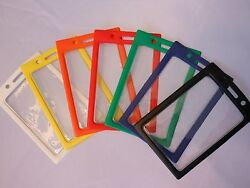 1 Vertical ID Badge Holder Clear Vinyl Window with a Color