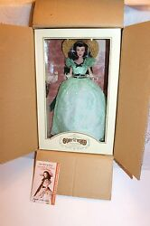 FRANKLIN MINT GWTW SCARLETT O'HARA VINYL PORTRAIT DOLL + ALL 13 OUTFITS NEW