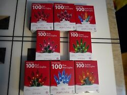 100PK Mini Christmas Party String Tree Light Set 24.50 ft Long Assorted Color $12.88