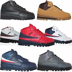 Mens Fila F13 F 13 Mid High Top Weather Tech Sneaker Boots Shoes Wheat Black $49.90