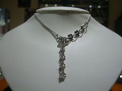 FINE FLORAL HAND MADE DIAMOND NECKLACE PENDANT 1.00 CARATS NEW DESIGNER WOW 16