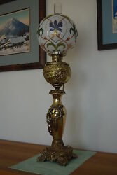 GWTW ANTIQUE VICTORIAN OIL KEROSENE OLD BANQUET PARLOR GONE WITH THE WIND LAMP $4500.00