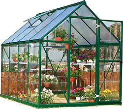 Palram 6' x 8' Hybrid Greenhouse Kit - Green (model HG5508G)