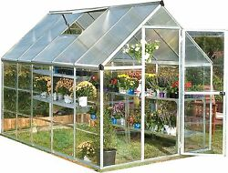Palram Hybrid 6' x 10' Silver Greenhouse Kit (model HG5510)