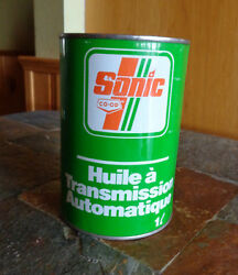 Vintage Oil Can Sonic Co op ATF 1 Qrt Metal Can $24.99