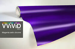 purple chrome satin matte car wrap vinyl 30M x 1.52M VViViD9 stretch 3MIL