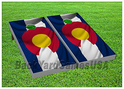 VINYL WRAPS Cornhole Boards DECALS Colorado Flag Bag Toss Game Stickers 244