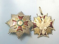 #74#75 POLAND POLISH WWII EXILE ORDER OF THE WHITE EAGLE1945 SPINKS COMPLETE
