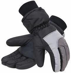 Snowboard Ski Gloves Motorcycle Snowmobile Snow Riding Sports Waterproof Gloves $8.97