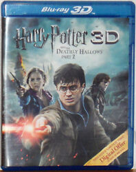 3D Blu Ray Harry Potter amp; the Deathly Hallows Part 2 2 Disc Set New Sealed $10.99