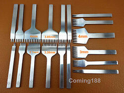 18 Pcs Leather Craft Sewing Stitching Pro Line Lacing Chisel Punch Tool Set Kit