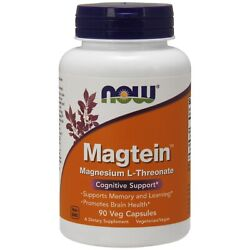 NOW FOODS® Magtein Magnesium L Threonate 90 Veg Caps Free Shipping Made in USA $22.43