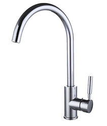 Chrome plated Brass Body Single Handle Contemporary Kitchen Sink Faucet $69.99